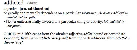 addiciton definition