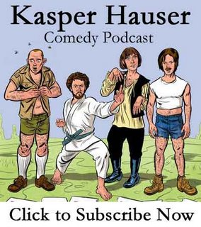 Kasper and Hauser Comedy Podcast Logo