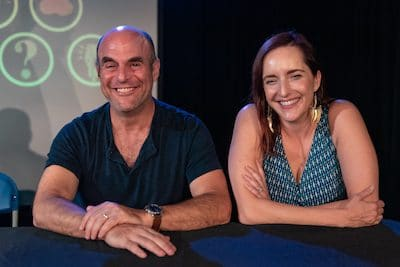 Peter Sagal and Rebecca Makkai