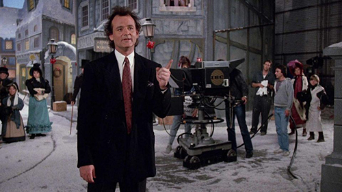 Bill Murray in the film 'Scrooged'