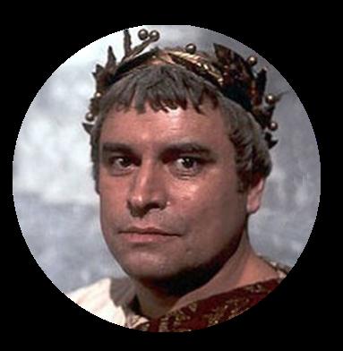 Augustus wearing laurel crown