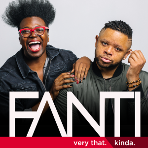 FANTI logo with photo of Tre'vell on the left leaning on Jarrett on the right