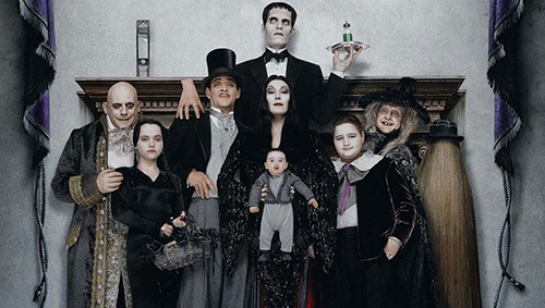 All the members of the Addams family from 'Addams Family Values'