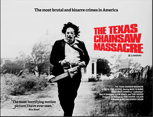 Poster of 'The Texas Chainsaw Massacre' with Leatherface