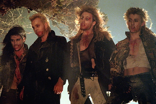 Four bloodied vampires from the movie 'The Lost Boys'