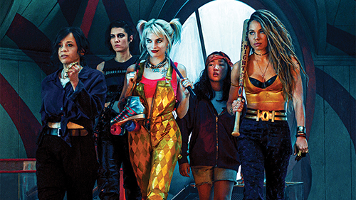 Film still from 'Birds of Prey' with the whole crew walking