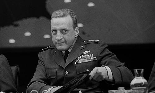 George C. Scott in 'Dr. Strangelove' scowling in the war room