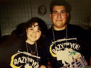 Lana and Dan wearing matching Crazy For You shirts
