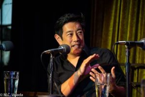 Grant Imahara on the Go Fact Yourself stage. He passed away recently.