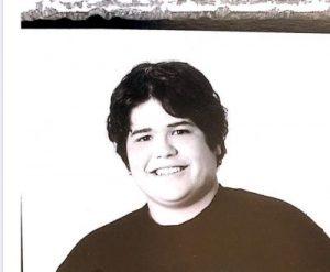 Harvey as a teenager
