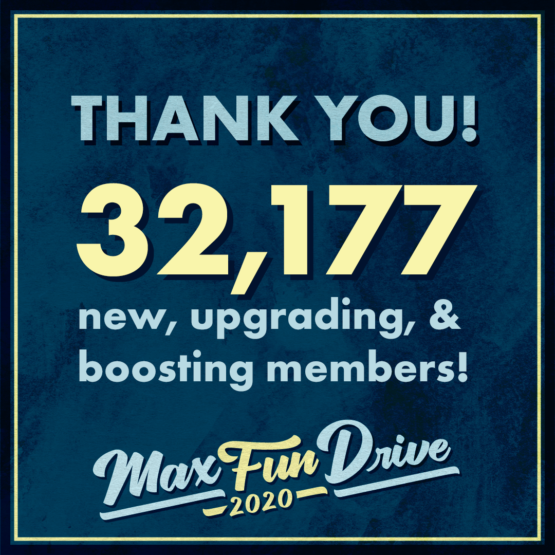 """""""Thank you! 32,177 new, upgrading, and boosting members"""" on a blue background"""