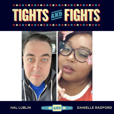 Hal and Danielle in the Tights and Fights photo frame
