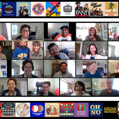 Screenshot of MaxFun staff on Zoom