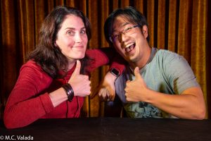 Erin Foley and Freddie Wong at Angel City Brewery