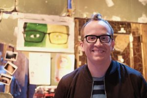 Comedian Chris Gethard at a comedy show